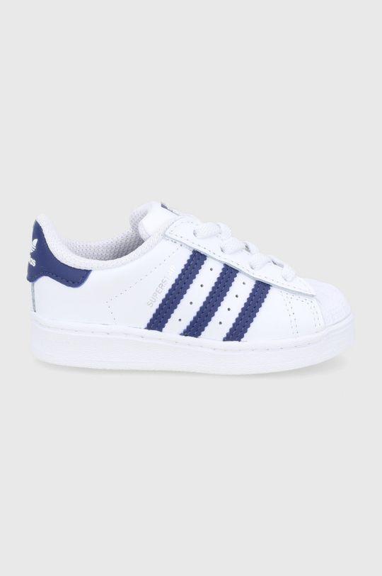 biały adidas Originals - Buty skórzane dziecięce Superstar Dziecięcy