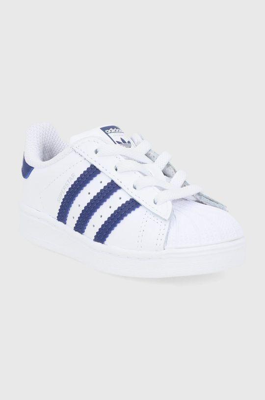 adidas Originals - Buty skórzane dziecięce Superstar biały