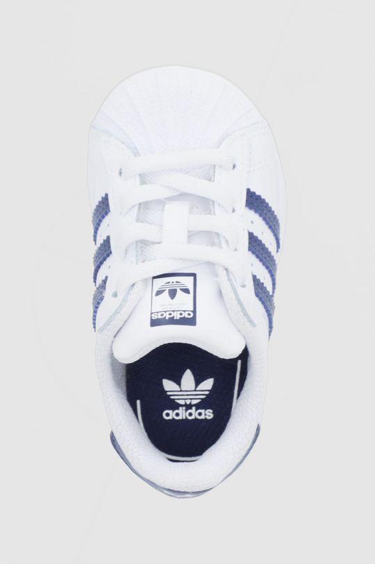 biały adidas Originals - Buty skórzane dziecięce Superstar