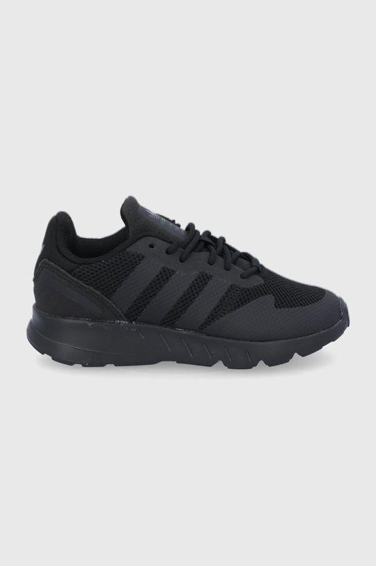 czarny Adidas Originals - Buty dziecięce ZX 1K C Dziecięcy