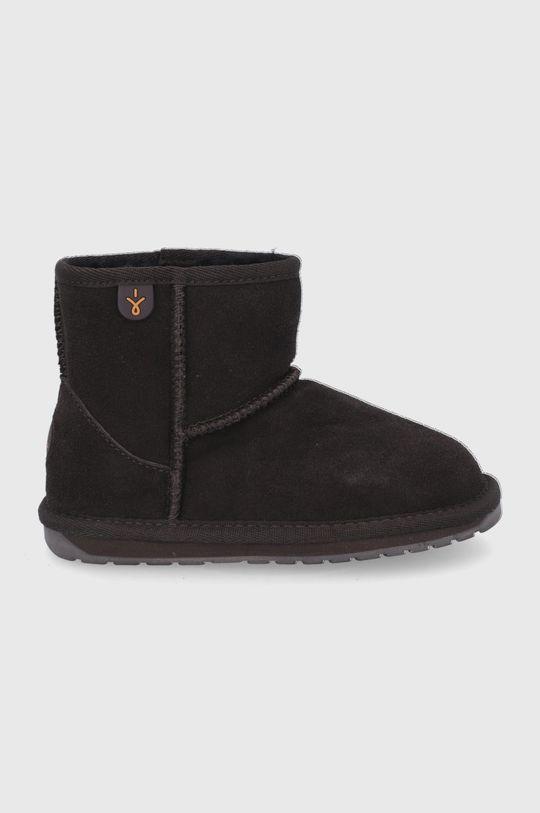 tmavohnedá Emu Australia - Zimné topánky Wallaby Mini Detský