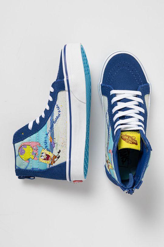 námořnická modř Vans - Dětské tenisky x Spongebob