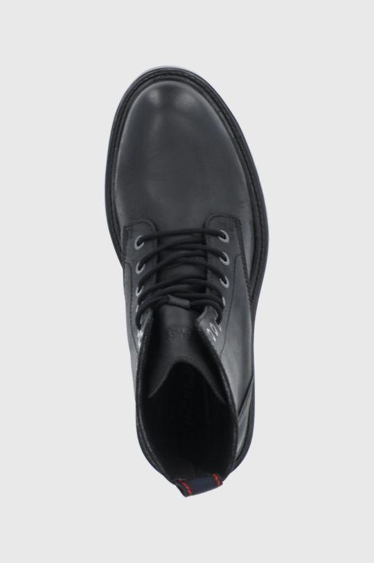 grafitová Jack & Jones - Kožené boty