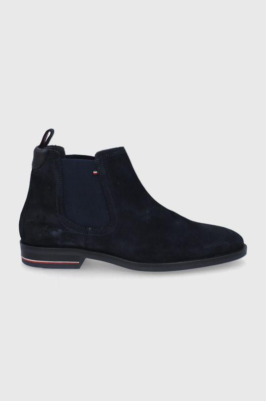 námořnická modř Tommy Hilfiger - Semišové kotníkové boty Pánský