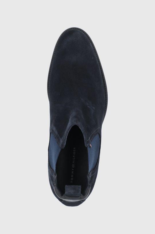 námořnická modř Tommy Hilfiger - Semišové kotníkové boty