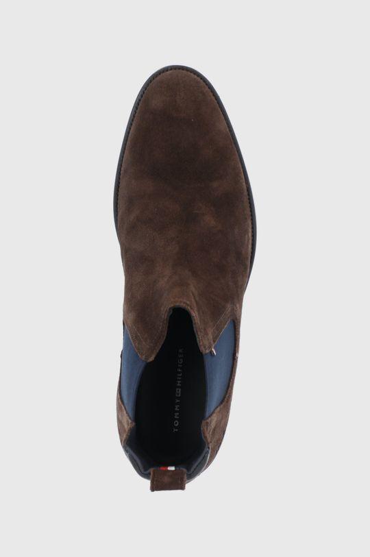 hnědá Tommy Hilfiger - Semišové kotníkové boty