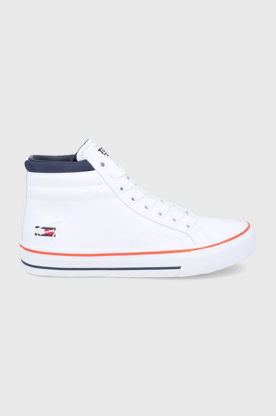 biały Tommy Jeans - Buty skórzane Męski