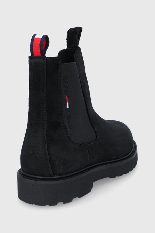 Tommy Jeans - Semišové kotníkové boty  Svršek: Semišová kůže Vnitřek: Textilní materiál, Přírodní kůže Podrážka: Umělá hmota