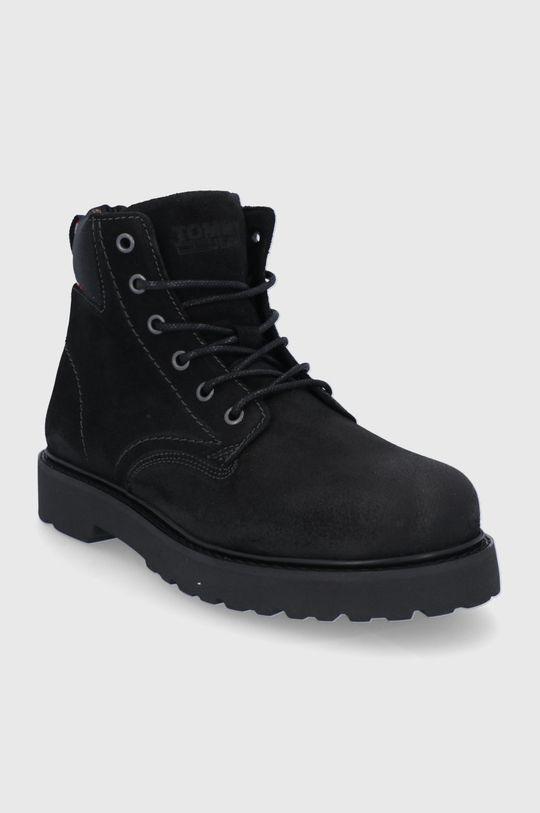 Tommy Jeans - Trapery černá