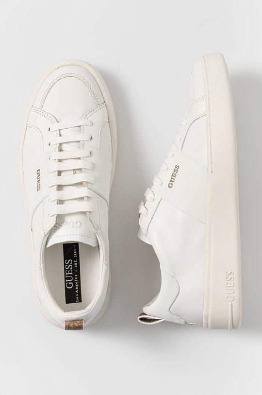 biały Guess - Buty skórzane