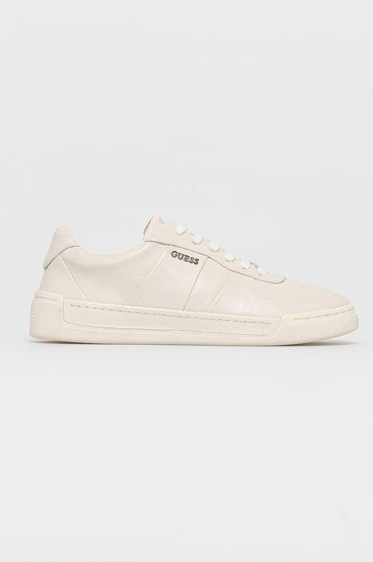 bílá Guess - Kožené boty Pánský