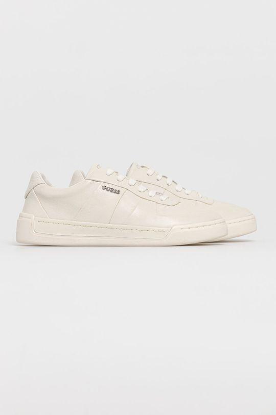 Guess - Kožené boty bílá