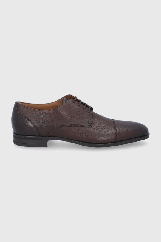 maro inchis Boss - Pantofi de piele De bărbați