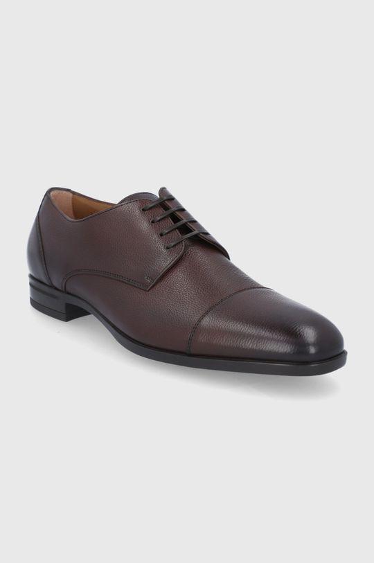 Boss - Pantofi de piele maro inchis