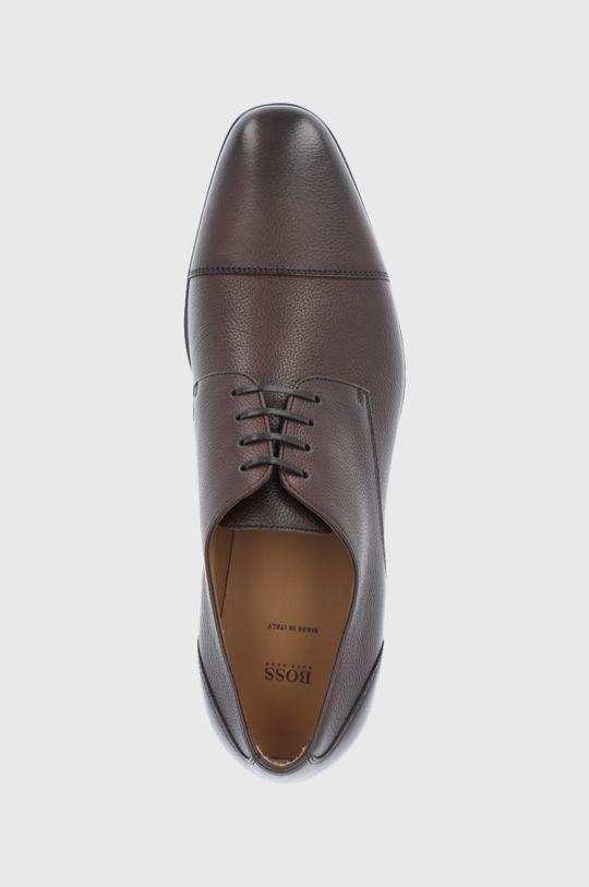 maro inchis Boss - Pantofi de piele