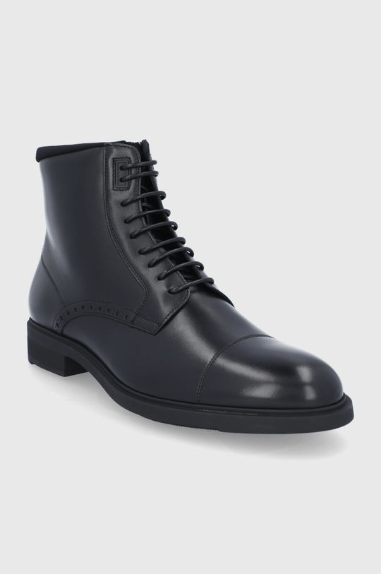 Boss - Buty skórzane czarny