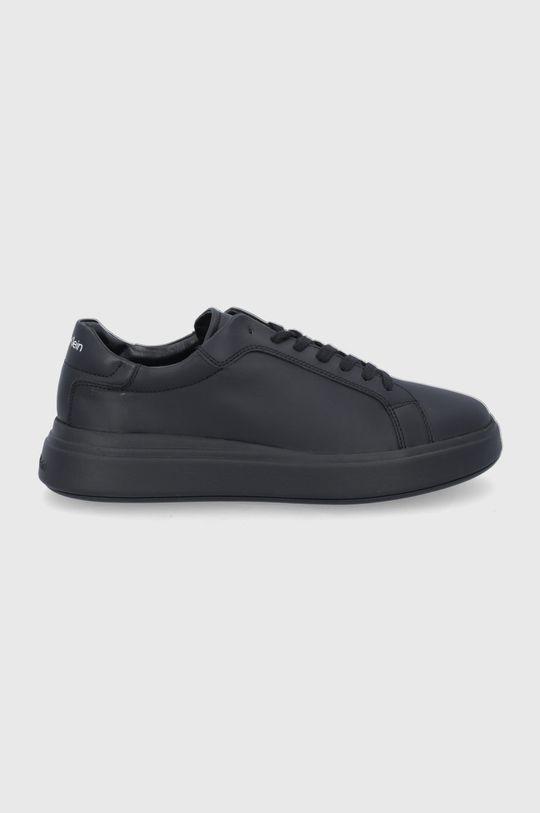 czarny Calvin Klein - Buty skórzane Męski