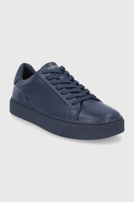 Calvin Klein - Δερμάτινα παπούτσια σκούρο μπλε