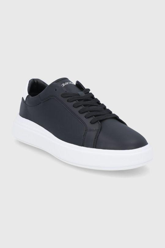 Calvin Klein - Δερμάτινα παπούτσια μαύρο