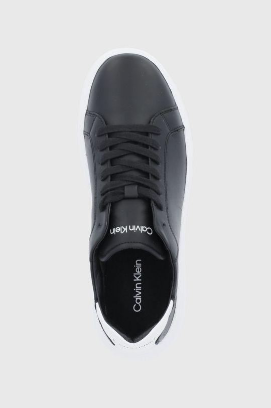 μαύρο Calvin Klein - Δερμάτινα παπούτσια