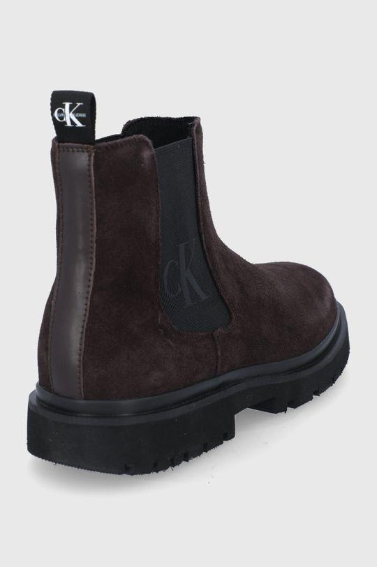 Calvin Klein Jeans - Sztyblety zamszowe Cholewka: Materiał tekstylny, skóra powlekana, Wnętrze: Materiał tekstylny, Podeszwa: Materiał syntetyczny