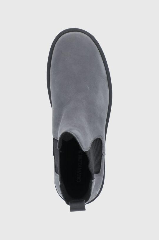 szary Calvin Klein Jeans - Sztyblety zamszowe