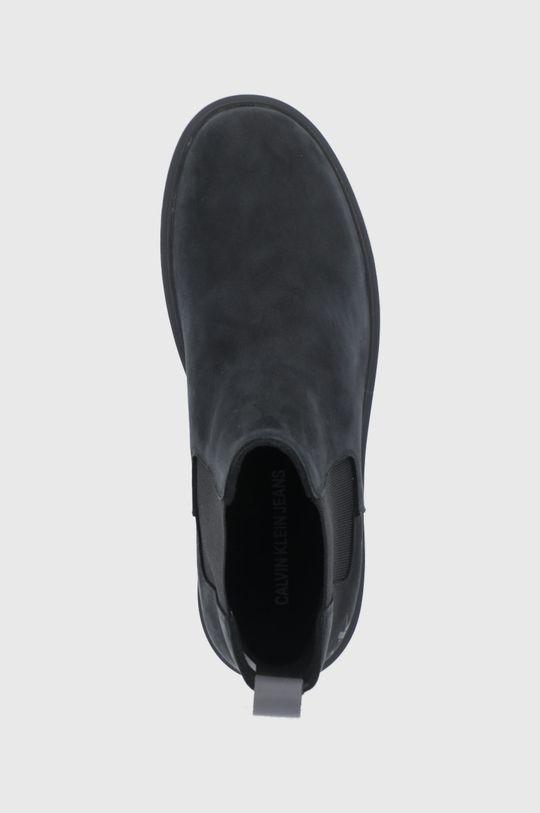 czarny Calvin Klein Jeans - Sztyblety zamszowe