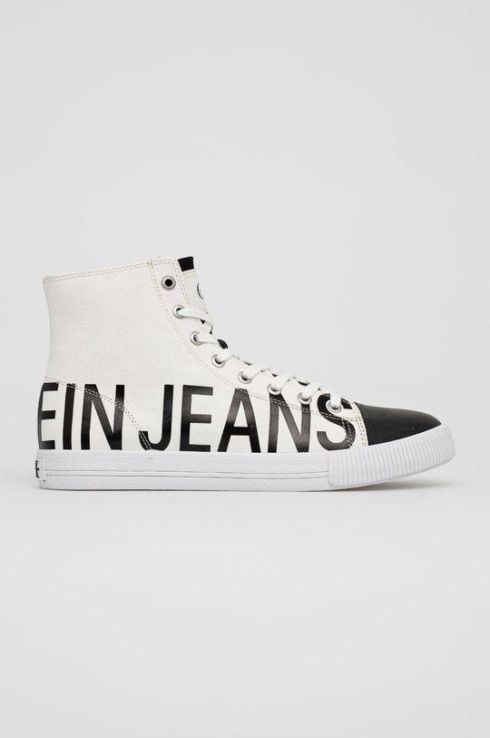 biały Calvin Klein Jeans - Trampki Męski