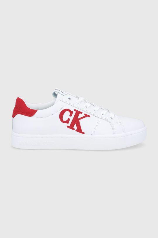 biały Calvin Klein Jeans - Buty skórzane Męski