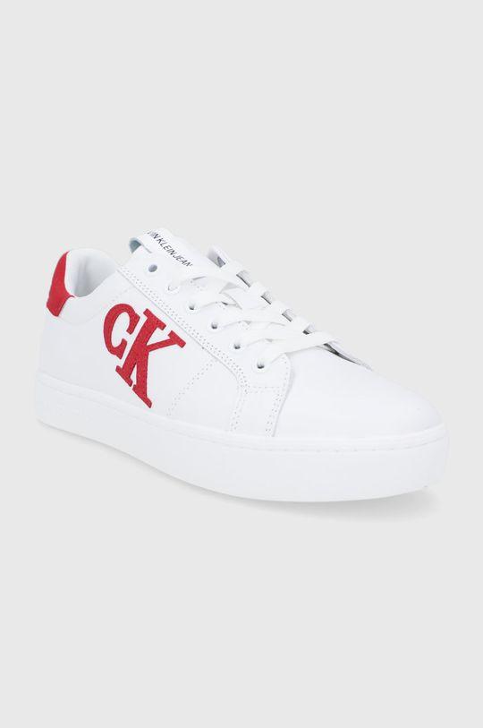 Calvin Klein Jeans - Buty skórzane biały