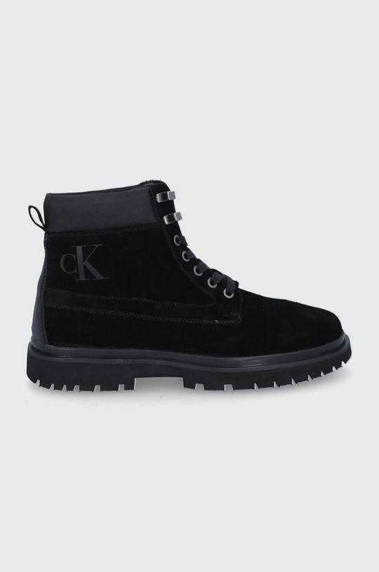 czarny Calvin Klein Jeans - Trapery zamszowe Męski