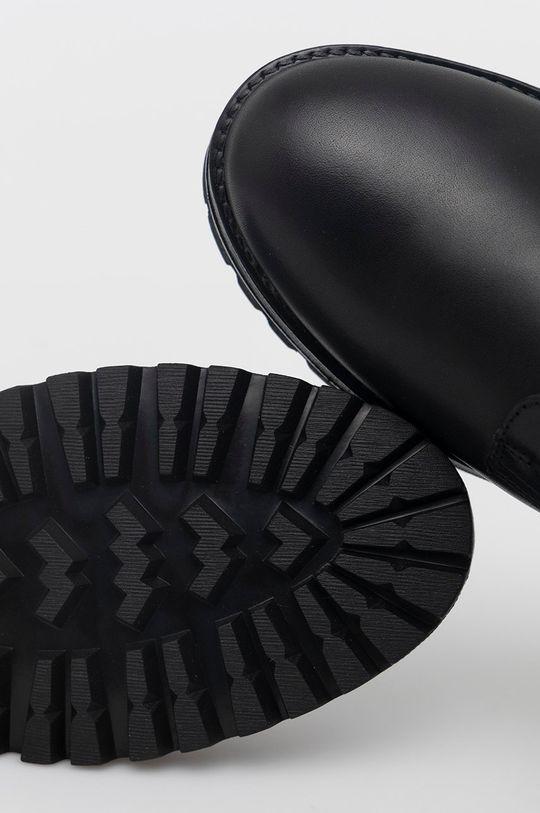 czarny Guess - Trzewiki skórzane