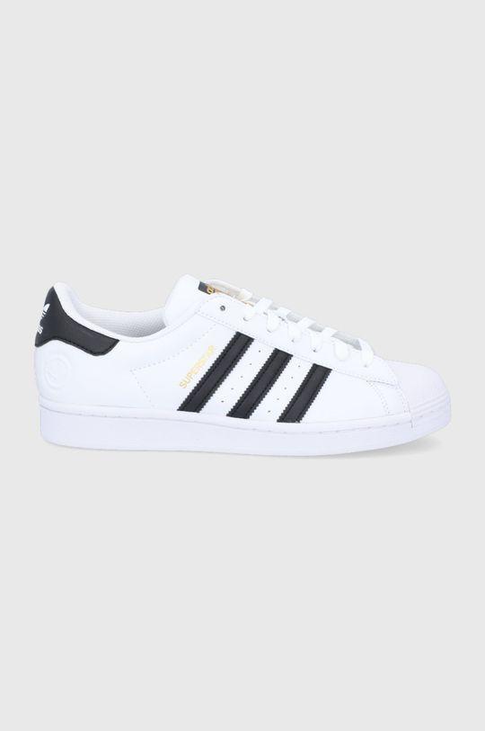 alb adidas Originals - Pantofi Superstar Vegan De bărbați