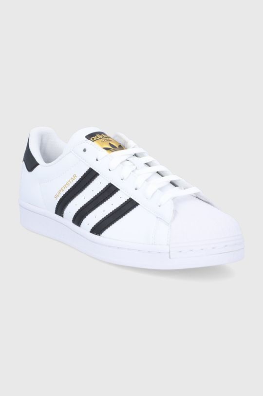 adidas Originals - Pantofi Superstar Vegan alb