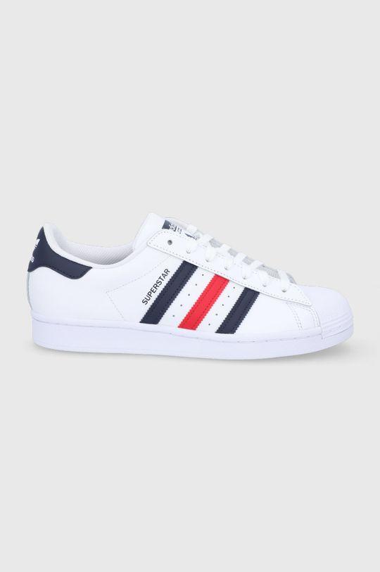 biały adidas Originals - Buty skórzane Superstar Męski