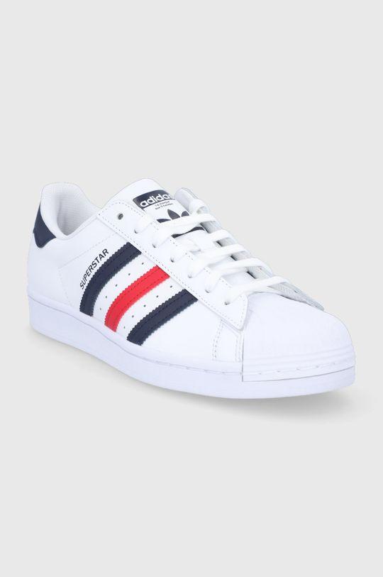 adidas Originals - Buty skórzane Superstar biały