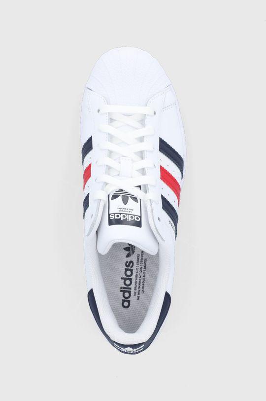 biały adidas Originals - Buty skórzane Superstar