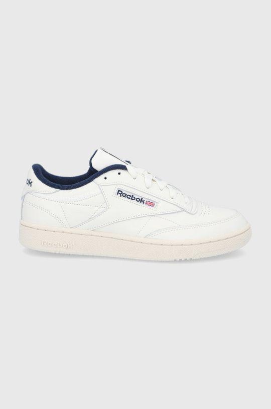 bílá Reebok Classic - Kožené boty Club C 85 MU Pánský