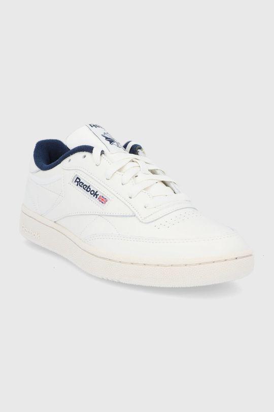Reebok Classic - Kožené boty Club C 85 MU bílá