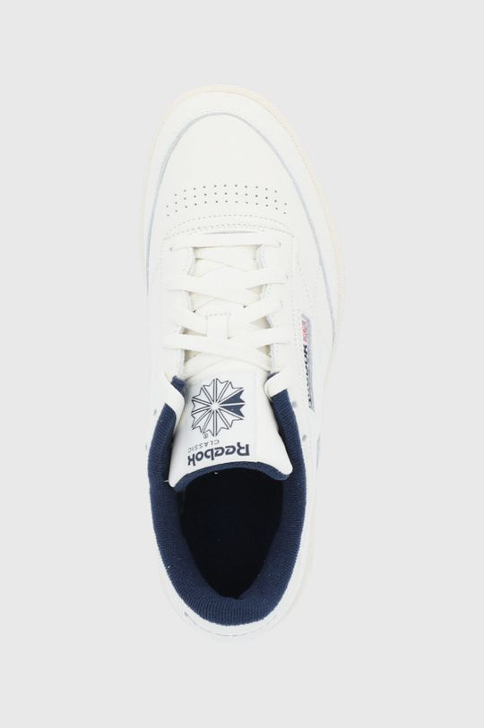 bílá Reebok Classic - Kožené boty Club C 85 MU