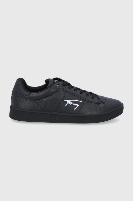 czarny Tommy Jeans - Buty skórzane Męski