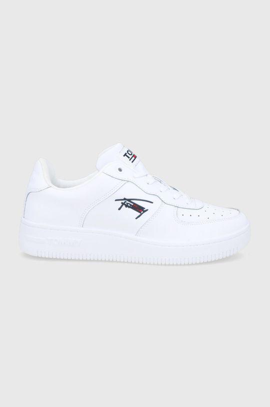 bílá Tommy Jeans - Kožené boty Pánský