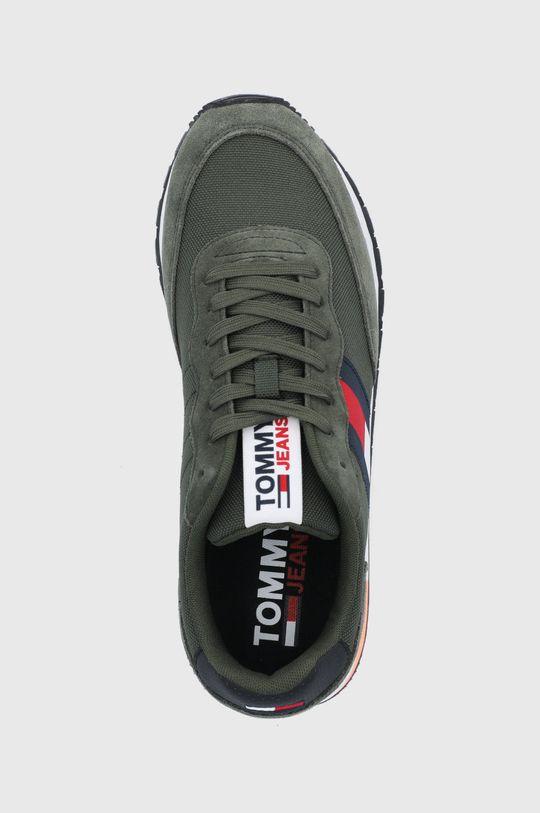olivová Tommy Jeans - Topánky