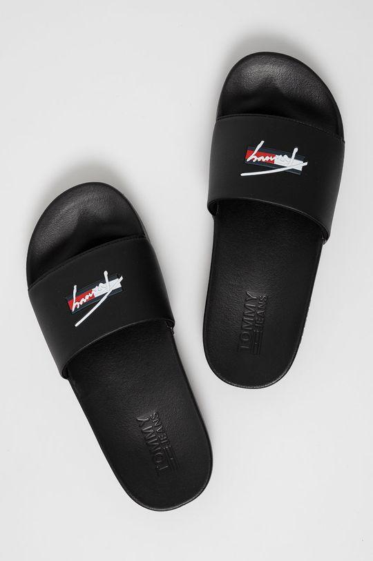 Tommy Jeans - Pantofle černá