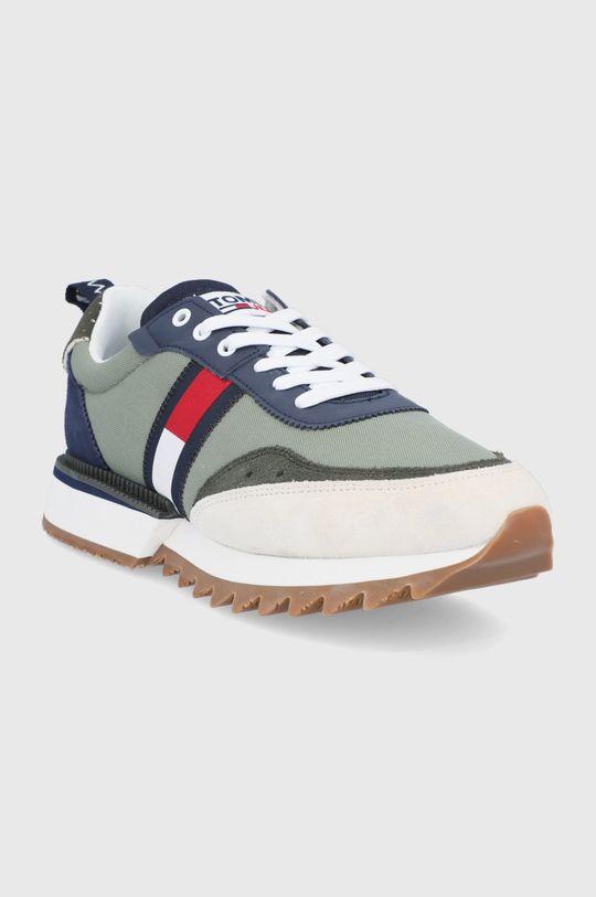 Tommy Jeans - Boty světle zelená