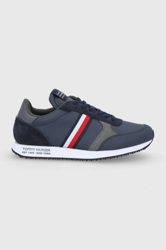 námořnická modř Tommy Hilfiger - Kožené boty Pánský