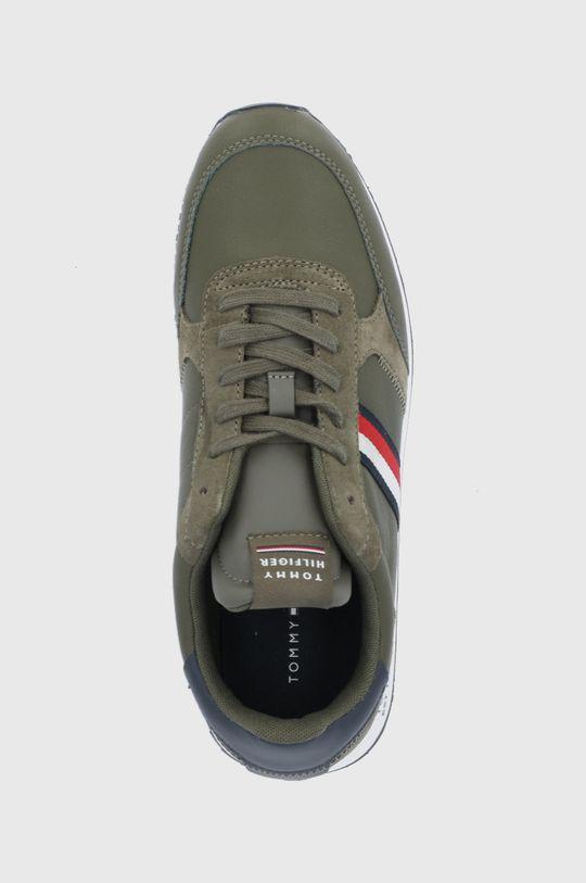 olivová Tommy Hilfiger - Kožené boty