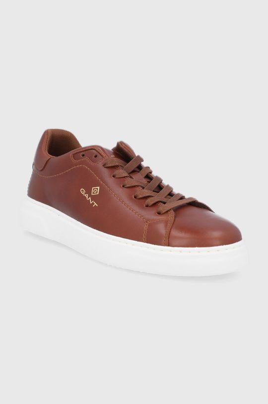 Gant - Kožené boty Joree zlatohnědá