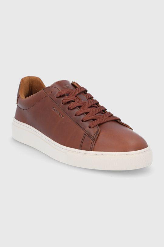 Gant - Kožené boty Julien zlatohnědá