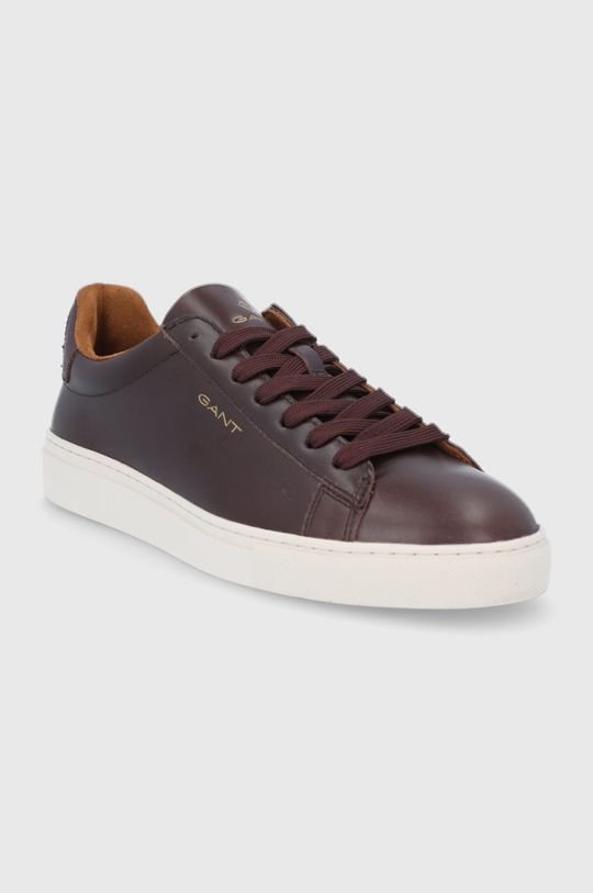 Gant - Kožené boty Mc Julien tmavě hnědá